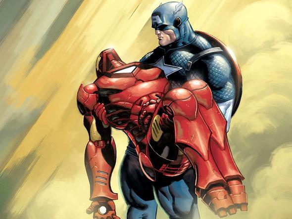 Iron Man und Cap? Was ist denn passiert? - (Comic, Kampf, Marvel)