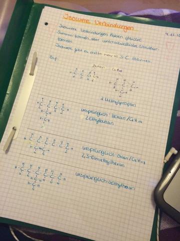 Es geht um Alkane - (Schule, Chemie, Verbindung)