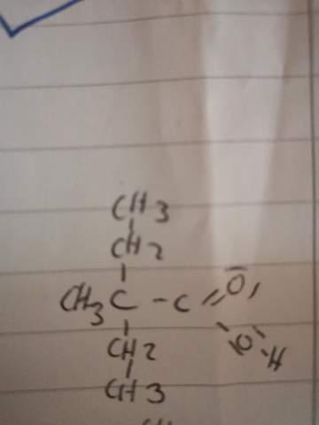 Ist das 2 Ethyl 2 methyl butansäure?