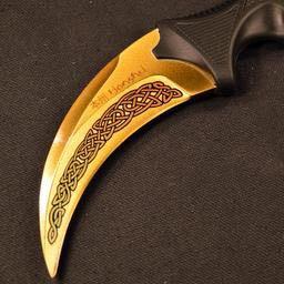 Goldenes Karambit - (Messer, Karambit)
