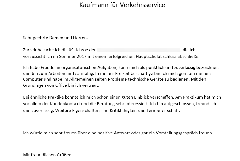ist das anschreiben an die deutsche bahn so gut ausbildung bewerbung - Positive Eigenschaften Bewerbung