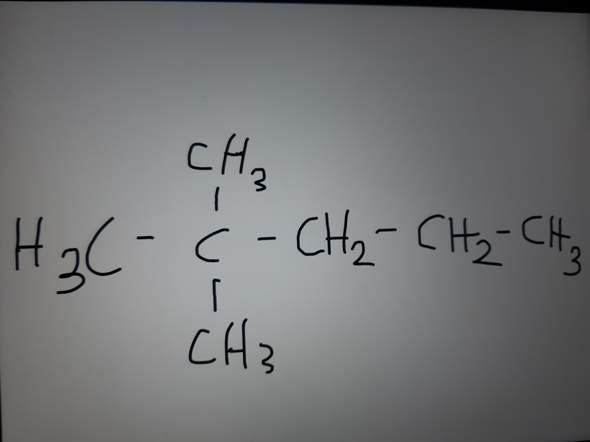 Ist das auf dem Bild ein 2,2-Dimethylpentan?
