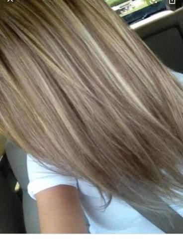 Blond schwarze strähnen