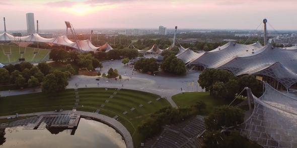 Ist das Dach vom Münchner Olympiastadion stabil genug um darauf mit einem BMX-Fahrrad fahren zu können und um Jumps zu machen?