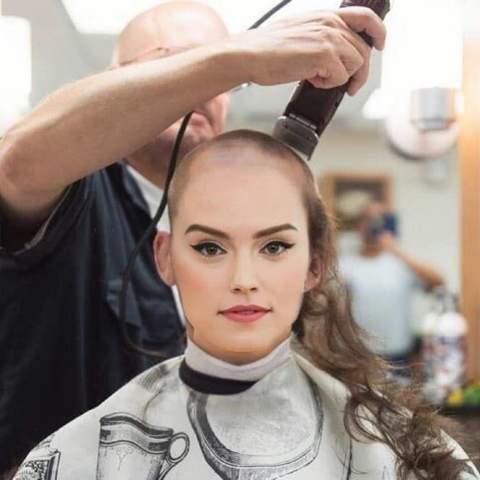 glatze rasieren frauen