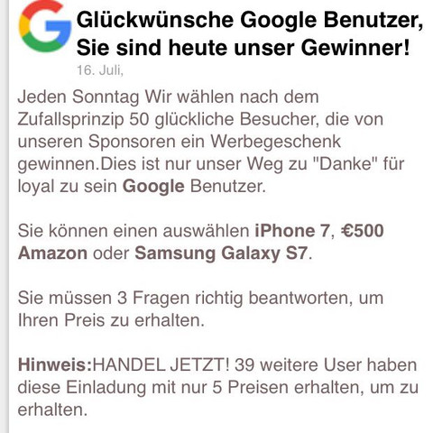 Amazon Iphone Gewonnen