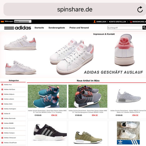 adidas schuhe rabatt com fake