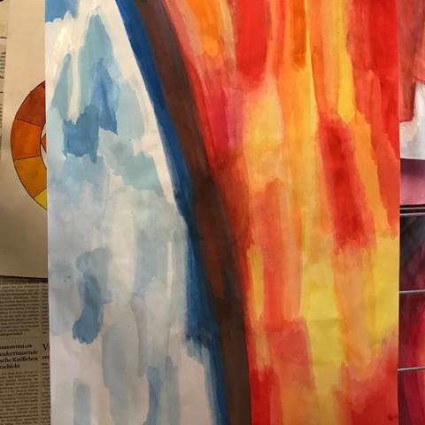 warme farben malerei, ist das ein gutes bild für kälte wärme kontrast? (farbe, kunst, malerei), Innenarchitektur