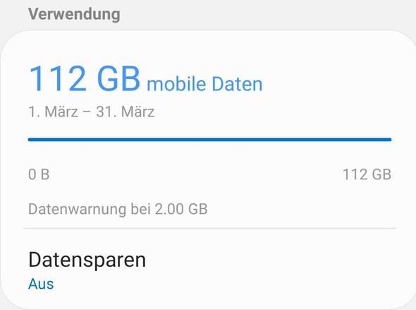 Ist das ein hoher Verbauch an mobilen Daten?