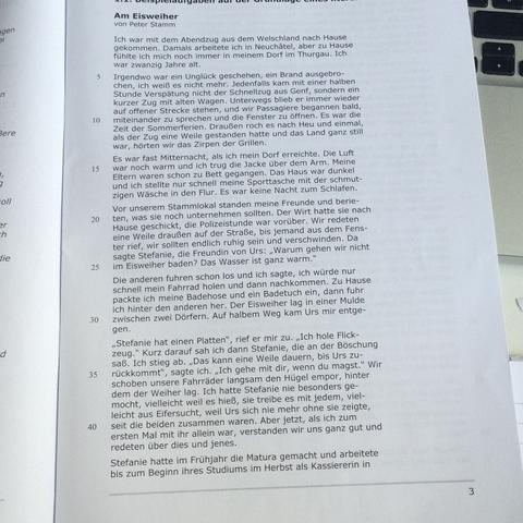Der erste Teil - (Schule, Literatur, Textart)