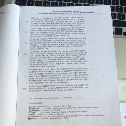 Der dritte Teil - (Schule, Literatur, Textart)