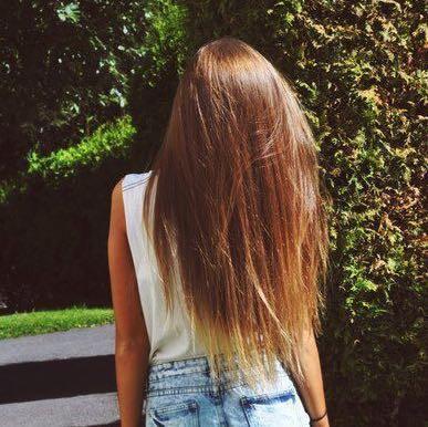 Lange haare v schnitt