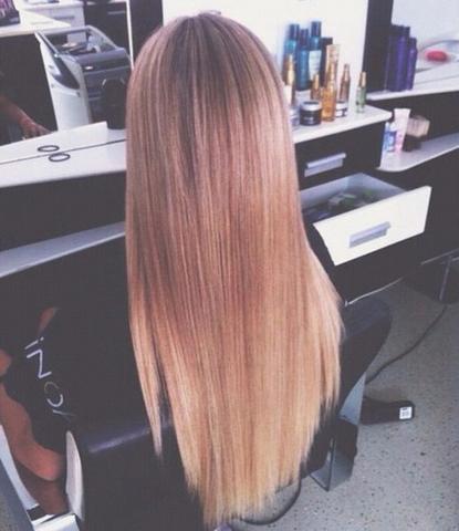 V schnitt lange haare hinten