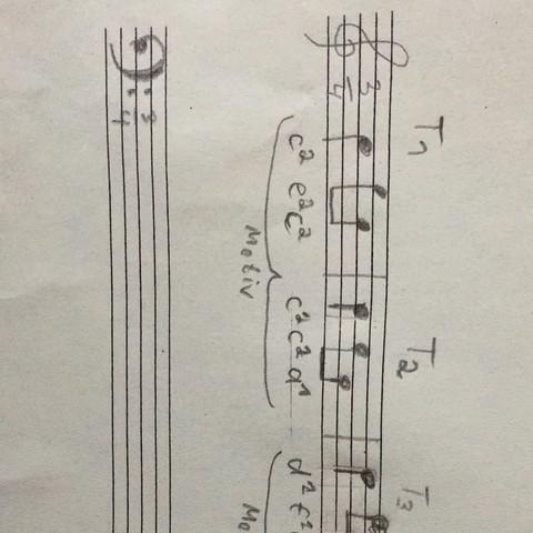 2 Takte - (Musik, Noten, takt)