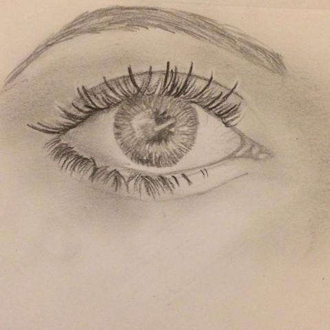 Das ist das Bild, welches ich gezeichnet habe😊  - (Bilder, Augen, zeichnen)