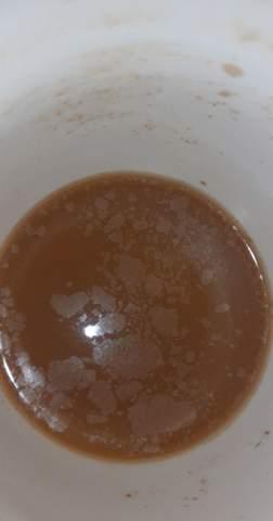 Ist das Kalk im Kaffee?