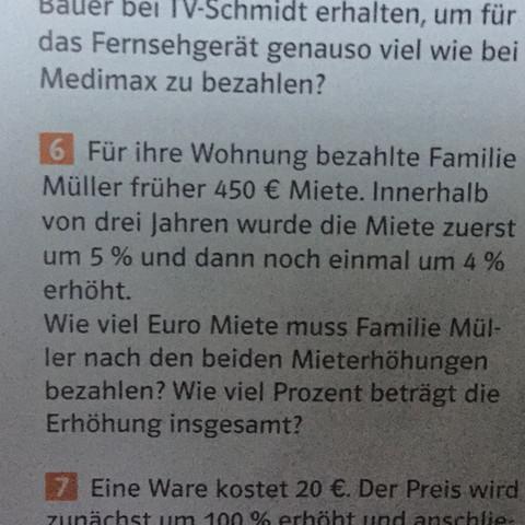 Aufgabe 6 - (Mathe, Prozent)