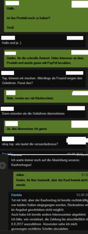 Chat 1 - (Ebay, Rechte, Anwalt)