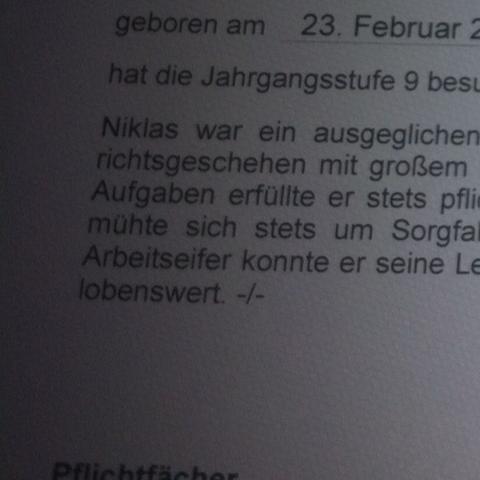 Nicht lesbar - (Zeugnis, Bayern)