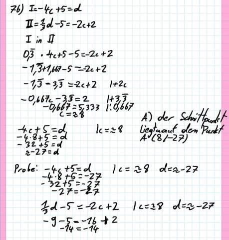 Ist dat richtig (mathe, einsetsungsverfahren, dumm)?