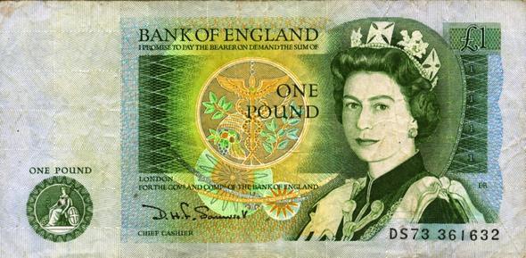 Ist Der 1 Fund Schein Auf England Noch Was Wert Münzen