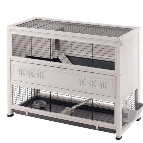 ist der k fig gro genug f r zwei kaninchen. Black Bedroom Furniture Sets. Home Design Ideas