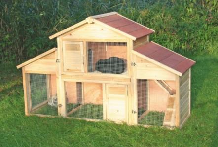 ist der kaninchenstall artgerecht f r 2 kaninchen aussengehege. Black Bedroom Furniture Sets. Home Design Ideas