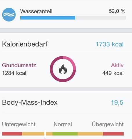 Körperfett - (BMI, koerperfett)