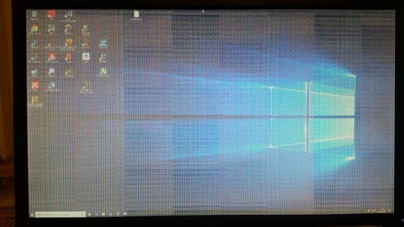 Ist der Monitor defekt oder muss ich nur etwas an den Einstellungen verändern?