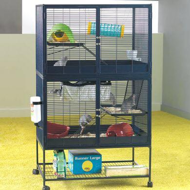 Die kleinen Etagen kann man selbst hinmachen wo/wie man will.  - (Kleintiere, rattenkaefig, Savic Suite Royale)