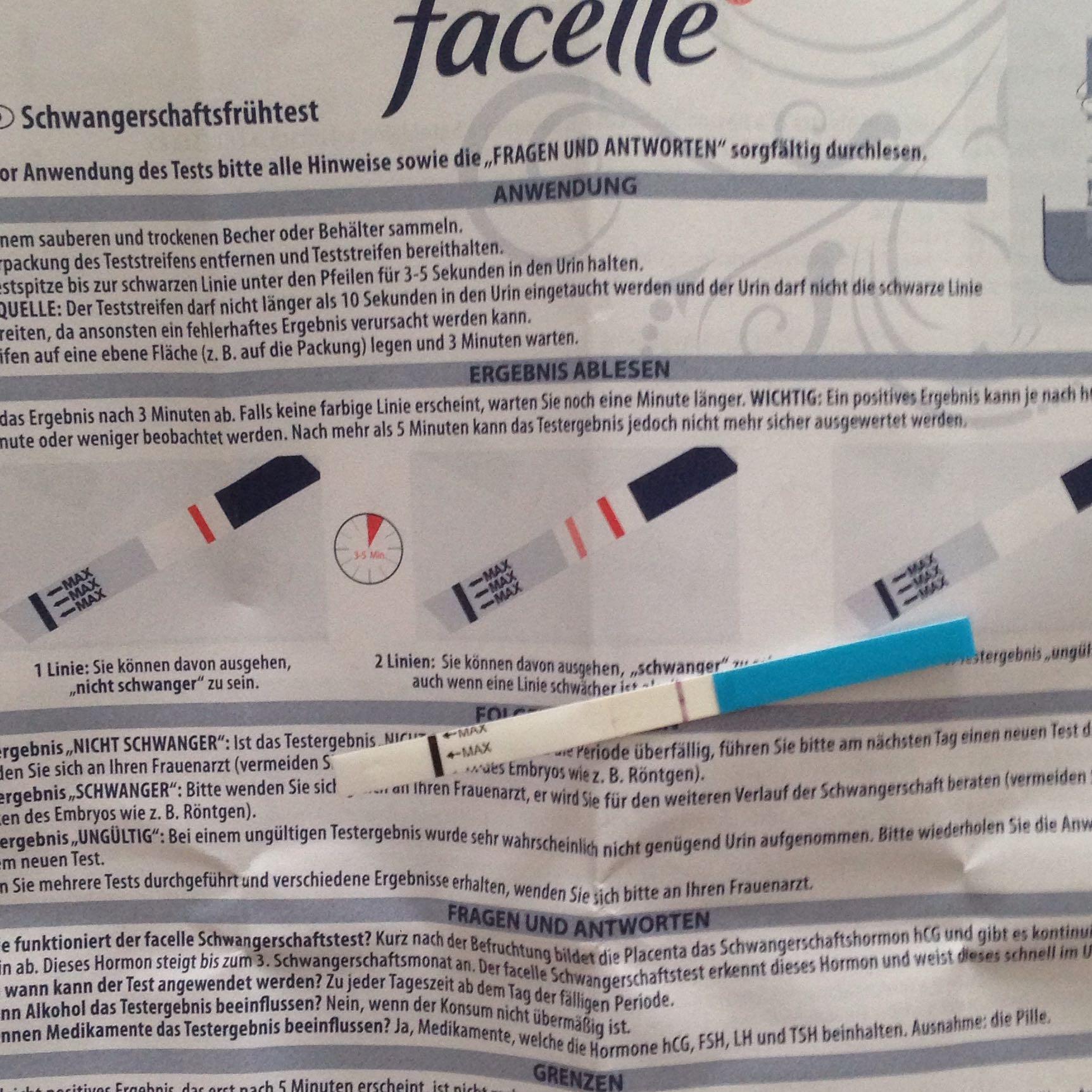Facelle Schwangerschaftstest Negativ