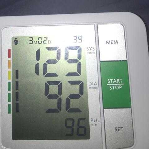 Das Bild dazu vom Messgerät  - (Blutdruck, in ordnung, Pule)