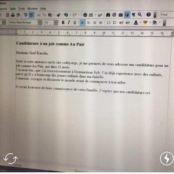 Ist Die Bewerbung So Gut Französisch Schule Sprache Fehler