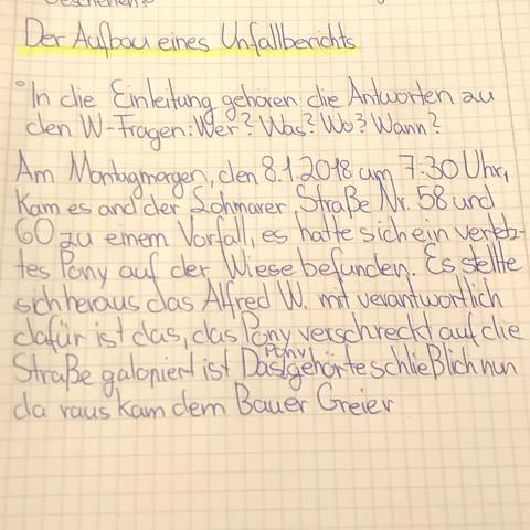 Ist Die Einleitung So Oke Schule Deutsch Bericht