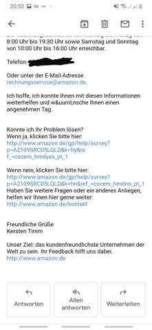 Amazon Rücklastschrift