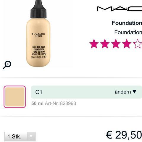 Mac C1 50ml  - (Beauty, Mac, Gesicht)