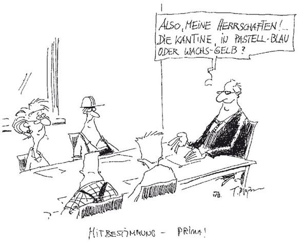 Karikatur - (Wirtschaft, BWL, Vortrag)