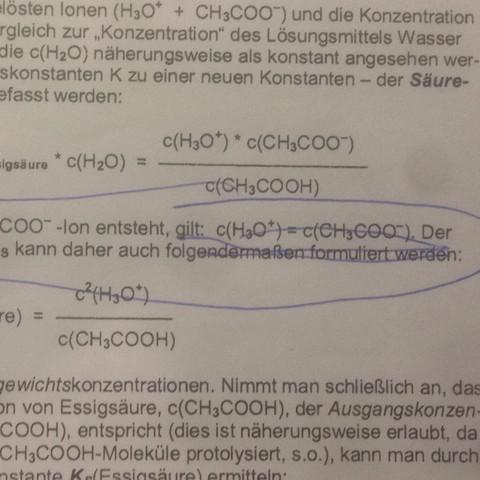 Hier wurde ich voll verwirrt  - (Chemie, Konzentration, Säure)