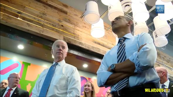 ist die Krawatte hier nicht zu lang bei Obama?