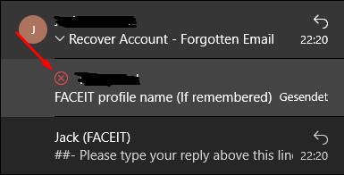 ist die mail  gesendet worden?