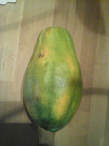 Ist die Papaya schon reif ?