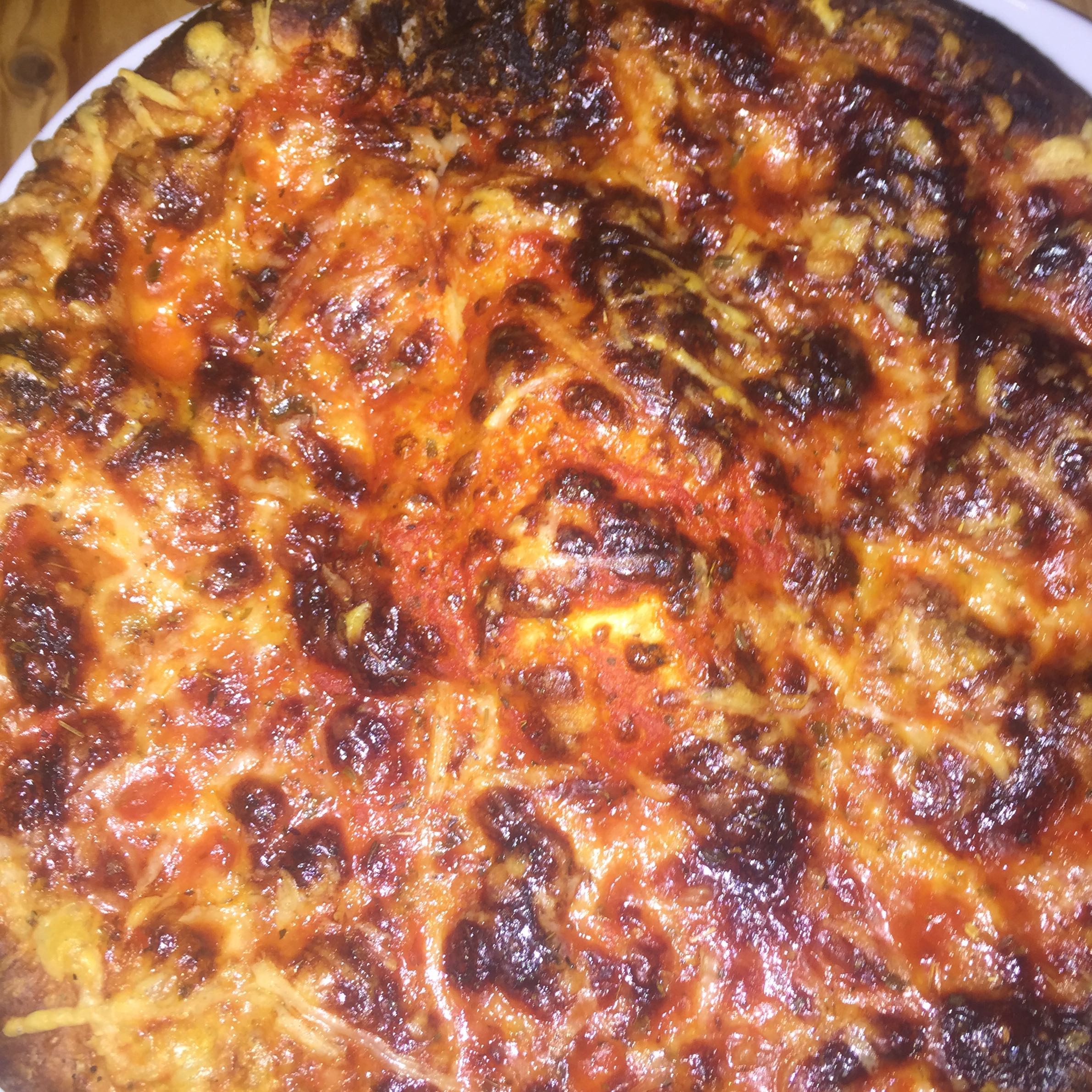 Pizza leicht angebrannt