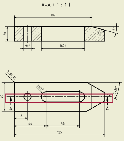 Spannpratze (Inventor) - (Technisches Zeichnen, Technische Zeichnung, Autodesk inventor)