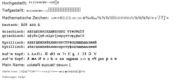 Sonderzeichen, wie ICH sie sehe - (Computer, Internet, Sprache)