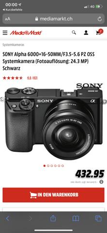Ist die Sony Alpha 6000 mit dem 16-55 Objektiv gut für den Start?