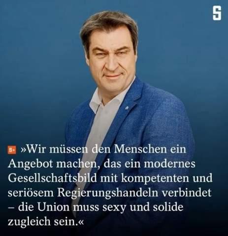 Ist die Union sexy und solide zugleich wie es Söder fordert?