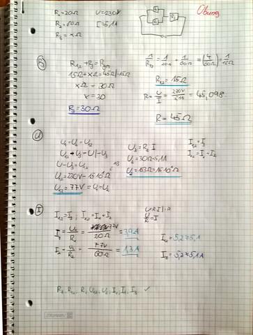 Meine Lösung - (Physik, Lösung, Widerstand)