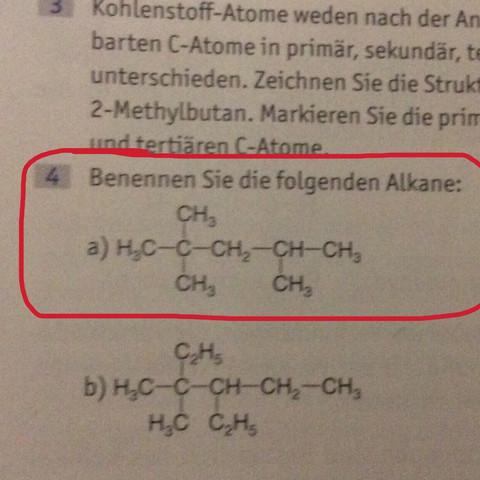 Ist diese Benennung richtig [Chemie]? (Aufgabe, Lösung, alkane)