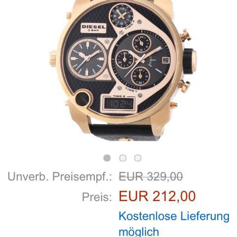 Ist diese Diesel Uhr hier Original oder Fake? Warum ist es fast 100€ billiger?
