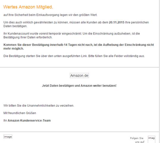 Amazon E-Mail - (Amazon, bestätigung)